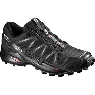 Salomon Herren Trail Running Schuhe, SPEEDCROSS 4, Farbe: schwarz (Black/Black/Black Metallic) Größe: EU 42 8