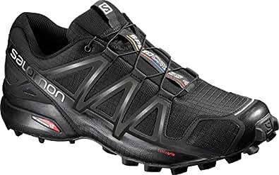 Salomon Men's Speedcross 4 Trail Running Shoes, Black, 8 US