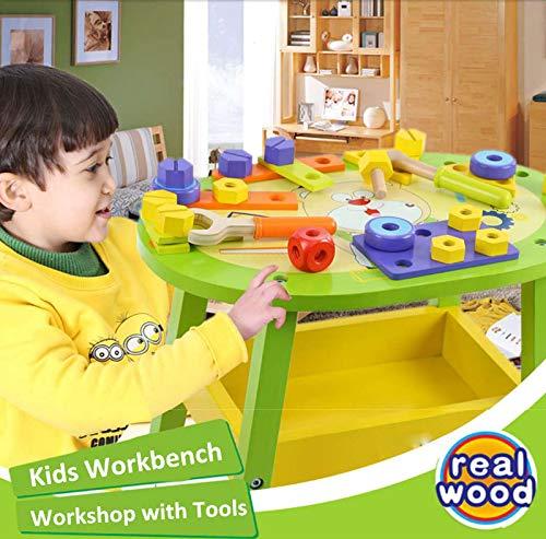 Beebeerun Kids Workbench Wooden Bear Master Workshop| Award Winning Kid's Wooden Tool Bench Toy Pretend Play Creative Building Set, Solid Wood Toy Workbench Includes Tool Building Set by Beebeerun (Image #7)