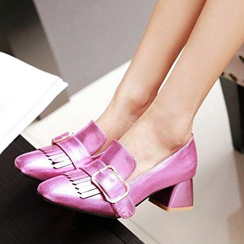 2 pink Moyen Bloc Chaussures Melady Brogue Femmes Talon qYwvO0