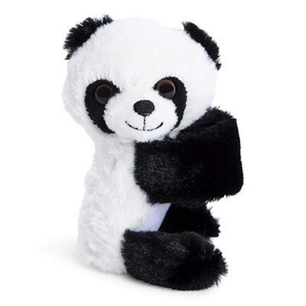 Lovable Huggable Cat and Panda Wrist Plush Bracelet 4.5 inch Set of 2