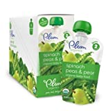 Plum Organics Baby Second Blends, Spinach, Peas and Pear, 4.0-Ounce Pouches (Pack of 12)