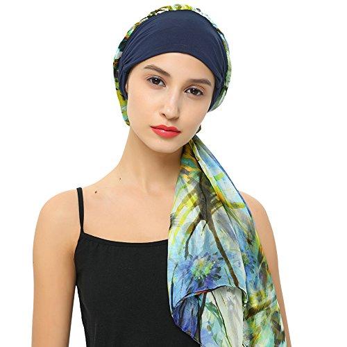 Cancer Hats For Chemo Patients Hair Loss Headwrap 100% Silk Scarfs Caps Headwear - Headwear Cool