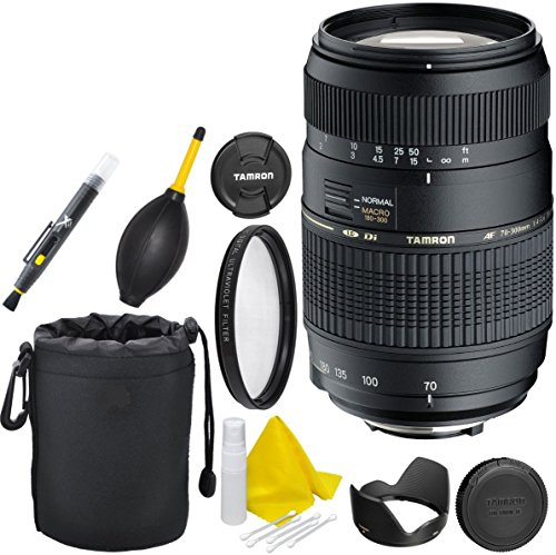 Tamron AF 70-300mm f/4.0-5.6 Di LD Macro Zoom Lens for Canon Digital SLR Cameras (Model A17E) by Celltime Inc