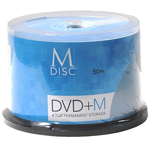 M-DISC 4.7GB DVD+R Permanent Data Archival/Backup Blank Disc Media - 50-Pack Cake Box by Produplicator