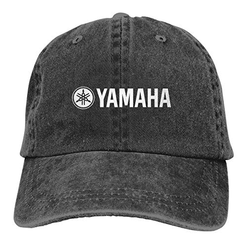 Yamaha Logo Adjustable Hat Denim Fabric Baseball Caps Black