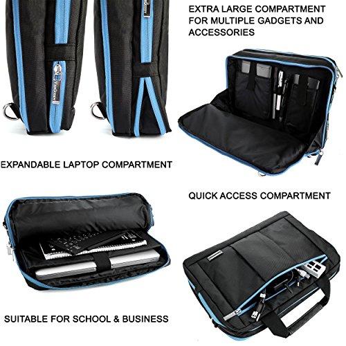 Memphis Padded Hybrid Bag For Asus 11.6'' - 14'' Laptop Tablet 2in1 PCs (TransMemphis Padded Hybrid Bagmer,ROG by Vangoddy (Image #4)