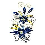 Comfy Hour 23'' Blue Metal Art Flower Wall Decor