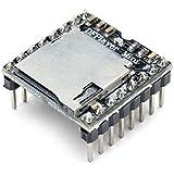KKHMF TFカード Uディスクミニ MP3プレーヤー オーディオ 音声 モジュールボード Arduino DFPlayに対応
