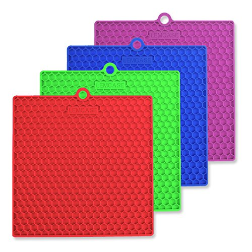 lemcase-silicone-pot-holder-trivet-mat-cup-spoon-rest-jar-opener-set-of-4-square-multipurpose-heat-r