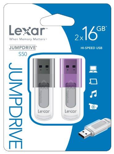 Lexar USB 2.0, 16GB 16GB USB 2.0 Type-A Black,Purple USB flash drive