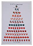 Twelve Days of a Cat Lover's Christmas Flour Sack Kitchen Dish Towel, 18 Inch X 26 Inch