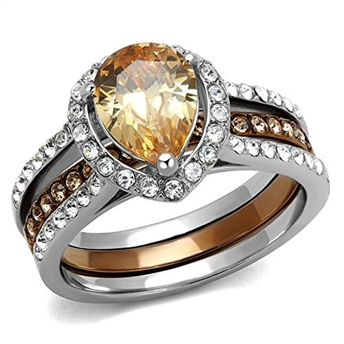 Shape Citrine Wedding Set - 3