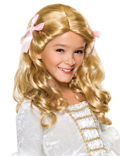 Cinderella Costumes Rental (Rubie's Gracious Princess Child's Costume Wig, Blonde)