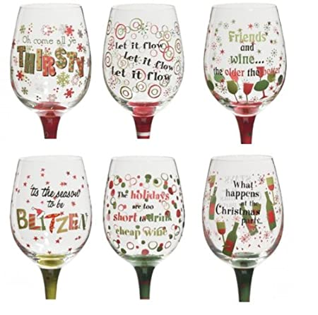ganz christmas wine glasses sold separately