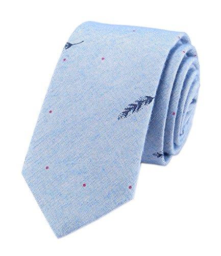 (Lighr Blue Skinnt Silk Tie for Men Kids Clip on Necktie Tuxedo Niceties Shopping)