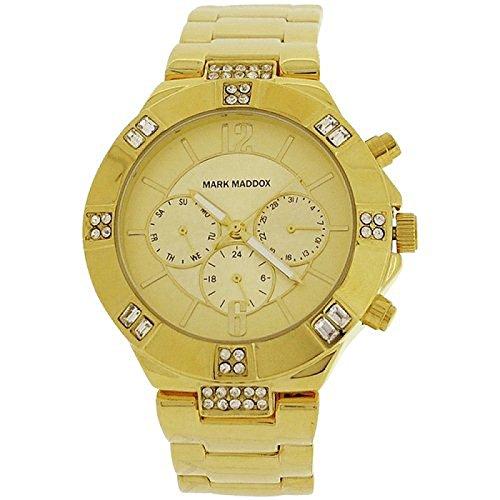 Mark Maddox Ladies Multifunction Rhinestone Set Bezel Bracelet Watch MM6003-25