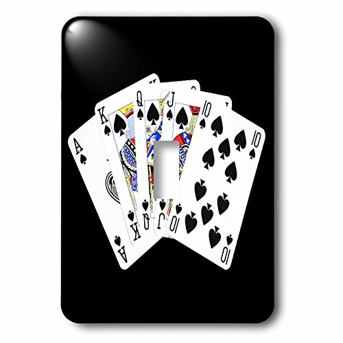 3dRose lsp_218695_1 Poker. Royal Flash. Spade. Black. Popular Image. - single Toggle Switch by 3dRose