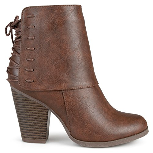 Brinley Co Women's Avalon Ankle Boot, Brown, 8 Regular US