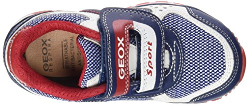 Geox J Pavel B - Zapatillas, Niños, Multicolor Multicolor (Blue / White)