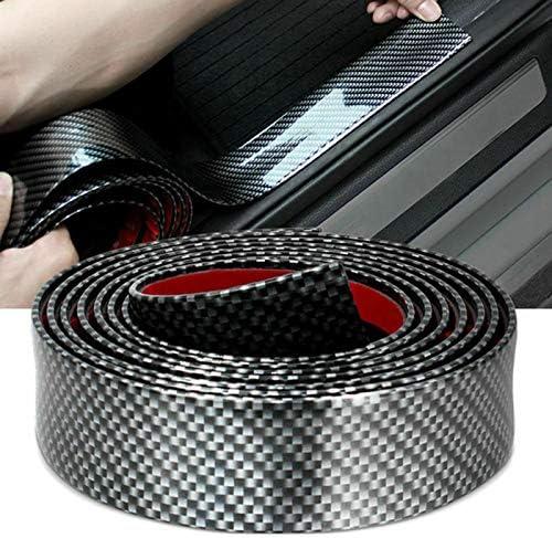 Bright Black, 7CM1.5M Carbon Fiber Rubber car Bumper Door Guard//Rear Bumper Guard//Body Scratch Protection Strip 100/% Waterproof LucaSng Door Entry Guard Scratch Cover Protective Paint Door Guard