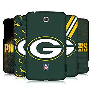 Official NFL Green Bay Packers Logo Hard Back Case for Samsung Galaxy Tab 3 7.0 by Head Case Designs