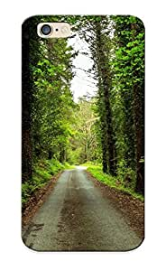 LJF phone case JBjIXlL2088wGRhb Case Cover Forest Road Trees Landscape Compatible With Iphone 6 Protective Case