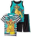 Disney Boys' 3 Piece Lion Guard Kion T-Shirt Muscle T-Shirt and Shorts Set