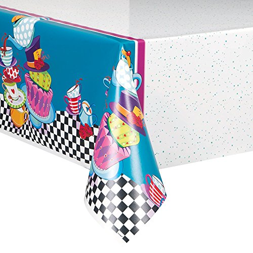 Alice In Wonderland Tablecloth (Mad Hatter Tea Party Plastic Tablecloth, 84