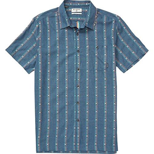 Billabong Men's Sundays Jacquard Short Sleeve Shirt, Denim Blue, (Billabong Blue Shirt)