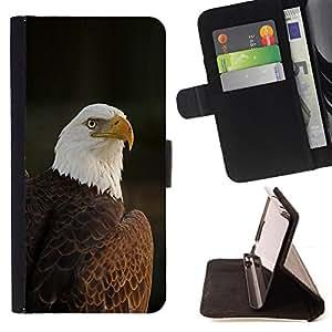 BullDog Case - FOR/Apple Iphone 4 / 4S / - / national bird feathers American patriotic /- Monedero de cuero de la PU Llevar cubierta de la caja con el ID Credit Card Slots Flip funda de cuer