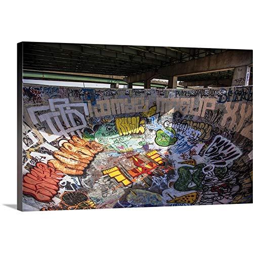 FDR Skatepark in Philadelphia Canvas Wall Art Print, 18