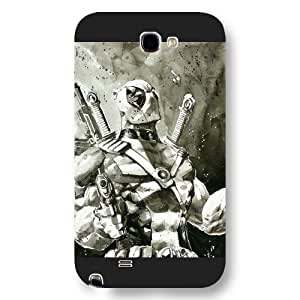 UniqueBox Customized Marvel Series Case for Samsung Galaxy Note 2, Marvel Comic Hero Deadpool Samsung Galaxy Note 2 Case, Only Fit for Samsung Galaxy Note 2 (Black Frosted Case)