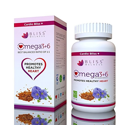 Triple Strength Burpless Omega 3 6 9 (Omega 3 + Omega 6 + Omega 9) Oil Triple Omega Combo Heart Care/Brain Development Health Supplement - 120 Softgel Capsules (120 No) by Bliss Welness