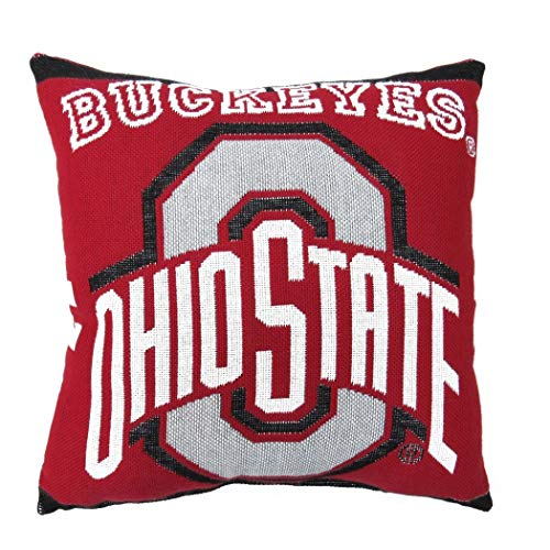 1 Piece NCAA Buckeyes Theme Woven Throw Pillow 20
