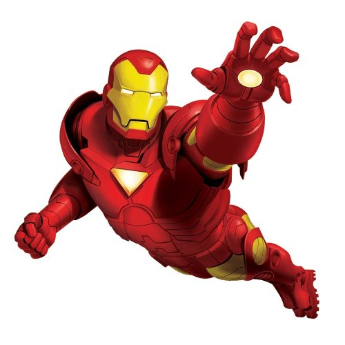 RoomMates RMK1486GM Iron Man Peel and Stick Giant Wall Decal, Baby & Kids Zone
