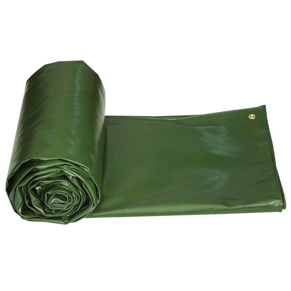 Tarpaulin HUO Resistente Tela Cerata Per Uso Pesante, Panno Durevole In PVC, Impermeabile Anti-UV Resistente All'usura Per Esterno verde 650 G M2 (colore   verde, dimensioni   23m)