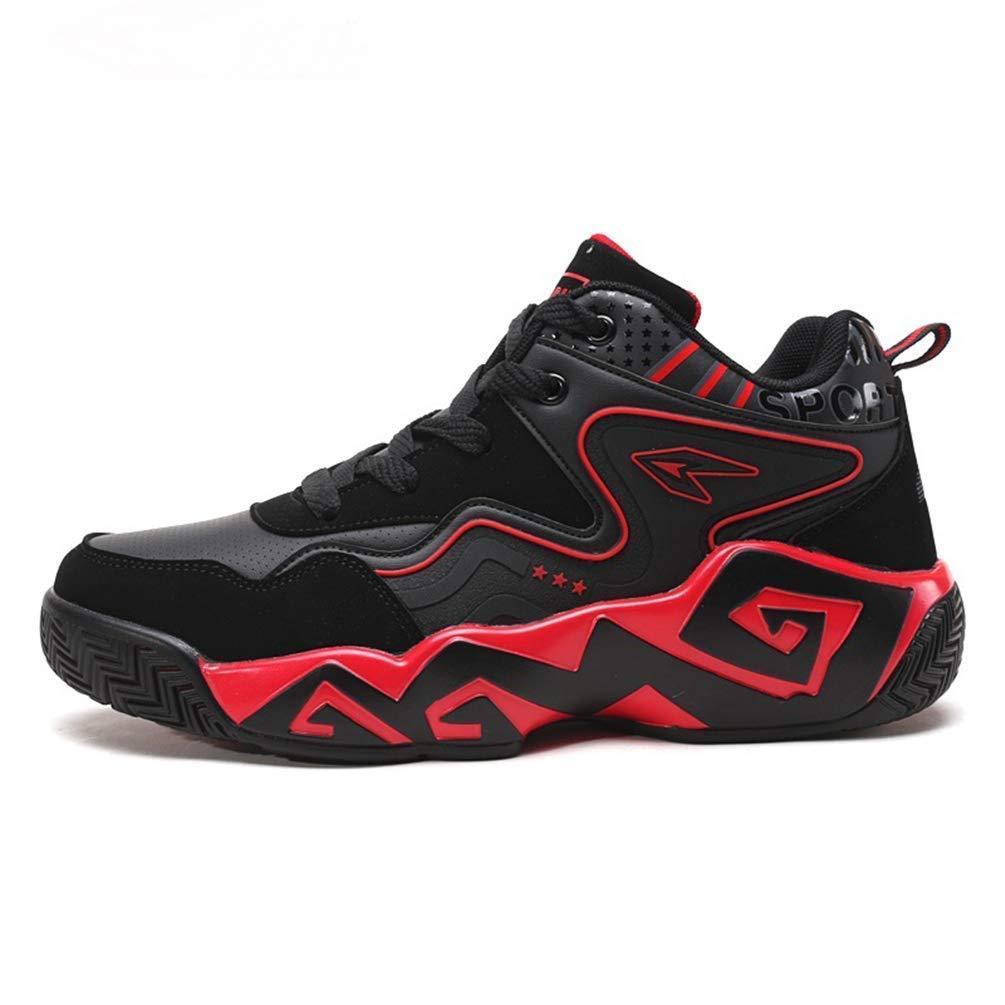 Herren Basketball Schuhe Turnschuhe Warme Pelz Homme Trainer Steigert Sportschuhe Outdoor Professionelle Trainingsschuhe (Farbe   Schwarz Rot, Größe   6.5=39 EU)
