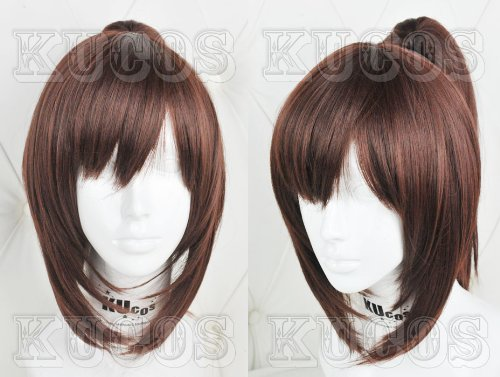 2013 Wig Attack on Titan Sasha Blouse No Kyojin Cosplay Wig Anime Cos Clip +Wig Cap by 47krate (Brown Ponytail Wig)