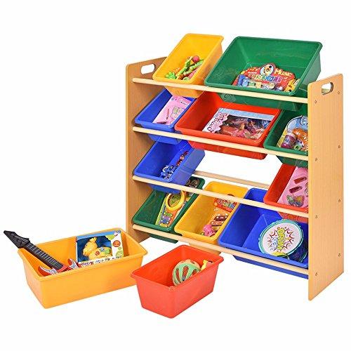 Toy Bin Organizer Kids Childrens Storage Box Playroom Bedroom Shelf Drawer by Unknown
