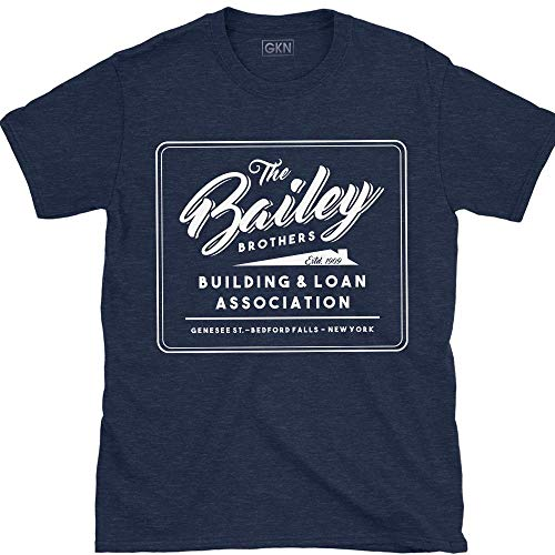 Bailey Bros Building and Loan It's A Wonderful Life T-Shirt Navy (Building And Loan Its A Wonderful Life)