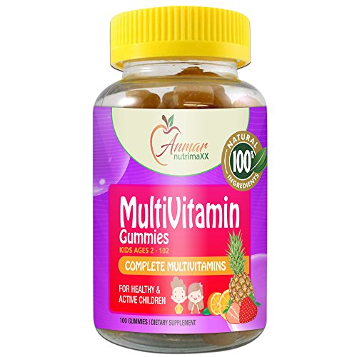 MultiVitamin Gummies by Anmar NutrimaXX | Men, Women and Children | All Natural | Sugar Free |Contains Essential Vitamins and Minerals | Strawberry, Orange and Pineapple Flavors | 100 Count .…