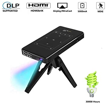 Fishlor Mini proyector, 4K DLP Portable Smart Mini Projector ...