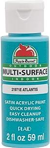 Apple Barrel Multi Surface Acrylic Paint, 2 oz, Atlantis 2 Fl Oz