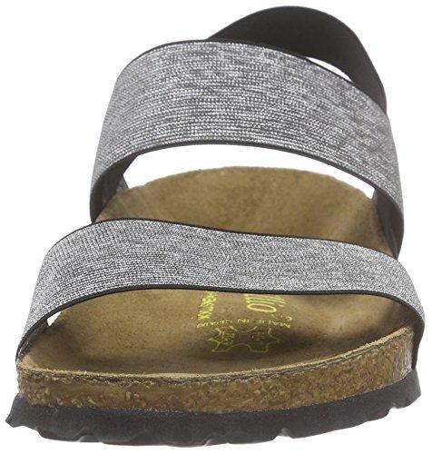 Papillio Caterina Stretch, Women's Open Toe Sandals Schwarz (Black/Silver)