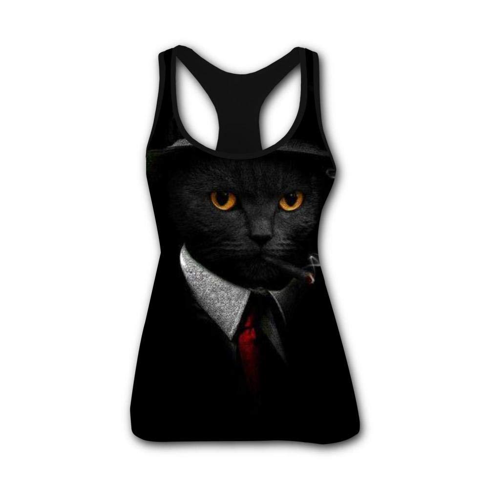 Secret Agent 3D Print Casual Custom Sleeveless Tanks Vest T-Shirt Women Girl M
