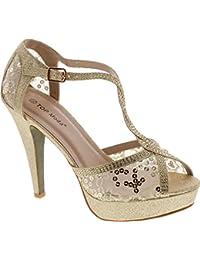 HY-5 Open Toe Crochet High Heel Sandals