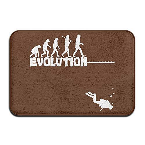 Evolution Door Set - Evolution of Scuba Diving Antiskid Outings Door Mats Bath Rug