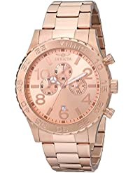 Invicta Mens 1271 Specialty Chronograph Rose Dial 18k Rose Gold Ion-Plated Watch