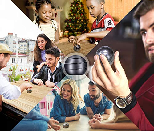 Mountain Giant Kinetic Desk Toy with Full Body Visual Illusion Ball Decompression Ball Fidget Stress Anxiety Relieves Aluminium Decoration Ball for Kids and Adults by Mountain Giant (Image #4)